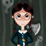 Wednesday Addams by AhNinniah