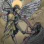 Saint Michael by Lowgan