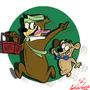 Yogi and BooBoo by CERVANTESCARTOONIST