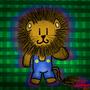 Lion in overalls by CERVANTESCARTOONIST
