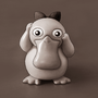 Little Psyduck (colorless) by AshleyAlyse