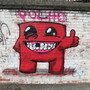 Super Meat Boy Street Art by polhudo