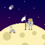 Man on the moon by bananaryguy