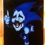 Creepy Sonic Painting by doublemaximus