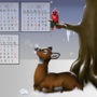Winter Doe - Animal Calendar by ithoughtiwascrazy