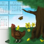 SpringChicken -AnimalCalendar by ithoughtiwascrazy