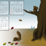 FallSquirrel - AnimalCalendar by ithoughtiwascrazy