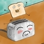 the toaster and the toast by MOMOTHECLOWN