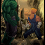 Hulk vs Vegeta by Blud-Shot