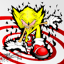 Fleetway Super Sonic by MentalMyles
