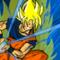 Goku charging kamehameha