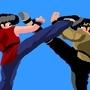 Ranma VS. Ryoga by drainzerhg