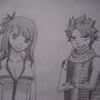 Natsu and Lucy by brmalone