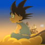 Kid Goku - Sunset Ride by LeeJayAnimation