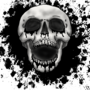 Ink Splatter Skull by EmuToons