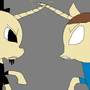 Notch And Herobrine Pony by Sweetpuppy76