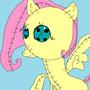 Fluttershy Doll Wallpaper by Sweetpuppy76
