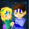 Megaman and a girl
