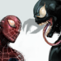 Spider and Symbiote by CypressDahlia