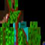 a half zombie skin (minecraft) by toko099o