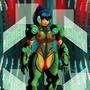 mecha alien chick by Blisschild1