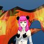 S.K.S Panda and Foxy <3 by shykidzstudios