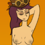 Steampunk Vivian Nude by KuukyTrooper