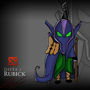 Cartoon Rubick DOTA2 by Aleksakia