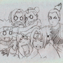 Naruto And The Gang by XKeitaX