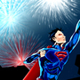 Superman on the 4th of July by unclekoomba