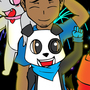 David The Panda - 4th of July by Plazmix