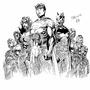 Superheros ink by NewBCartoonist