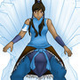 Korra on the frozen throne by Daggietainment