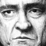 Portrait of Johnny Cash by KupaMan