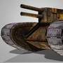 Double Barrel Steam Tank 3D by BlackHowlerStudios