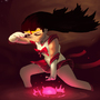 Sailor Mars doin' her thing by Katatafisch