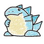Ice Dragon (Paint) Artwork by Kirb-Star