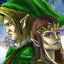 Link and Zelda by ILikePurple by ILikePurple