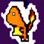 8 bit Charmander by Kingnogard