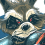 Rocket Raccoon by geogant