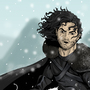 Jon Snow & Ghost by gregoryjramos