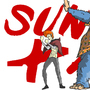 Sunny & Ale (OC) by Oxymoroncartoons