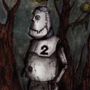 A Robot, Lost in the Woods by marvcastillo
