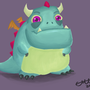 Digital Painting - Cute Dragon by EmuToons