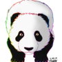 Rainbow Panda by fawn-cat