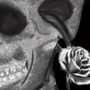 Rose sprouting out of a skull?