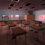 Classroom - Late After School by Lusin