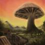 Mushroom village by NullMotion