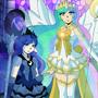 Sailor Celestia and Luna by DawnieMewMew