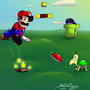 Mario - Fighting The Good Figh by mannyzworld